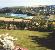 The farm overlooks the village of Mawgan Porth, it's bay and beach